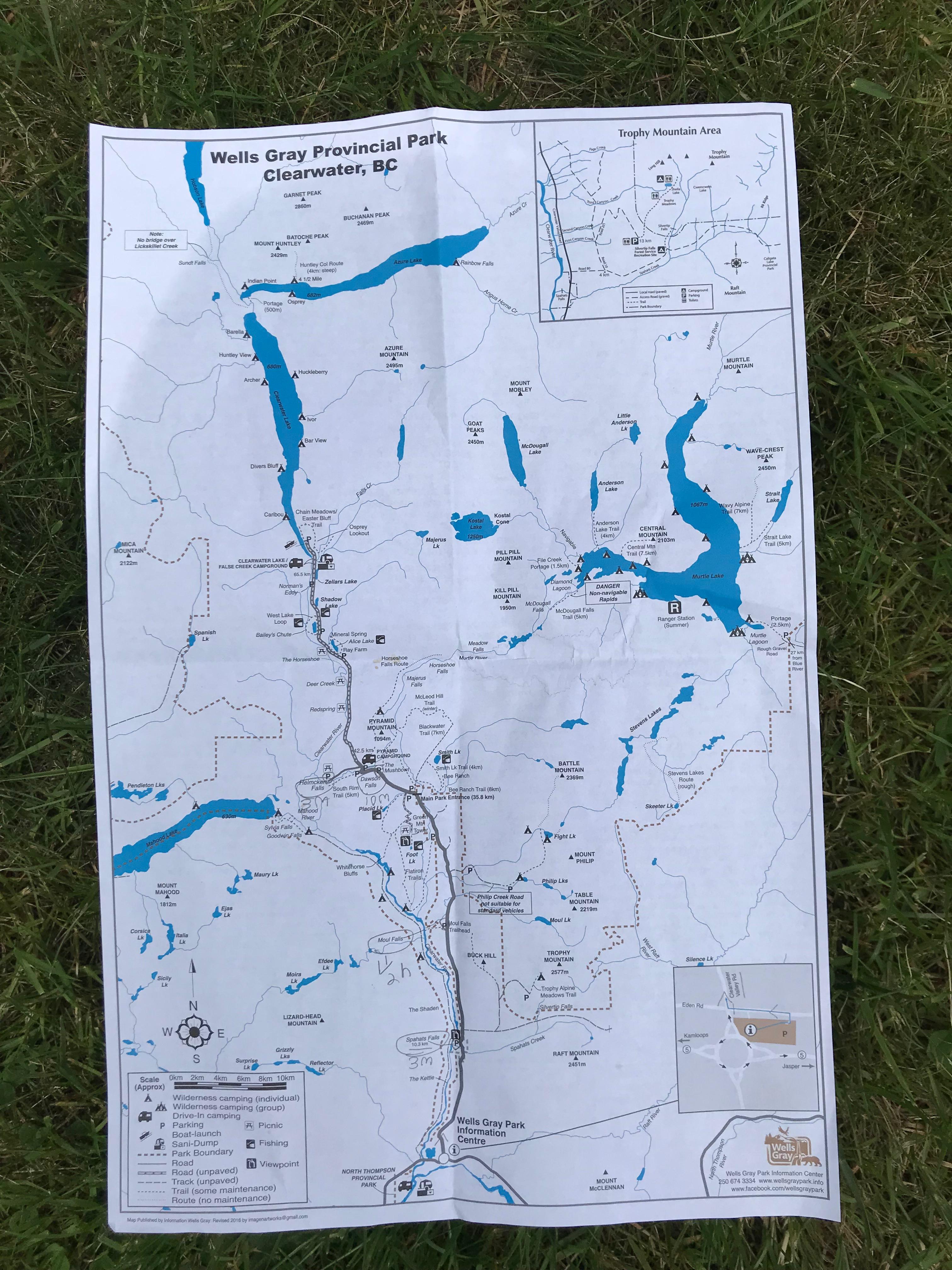 wells gray park map