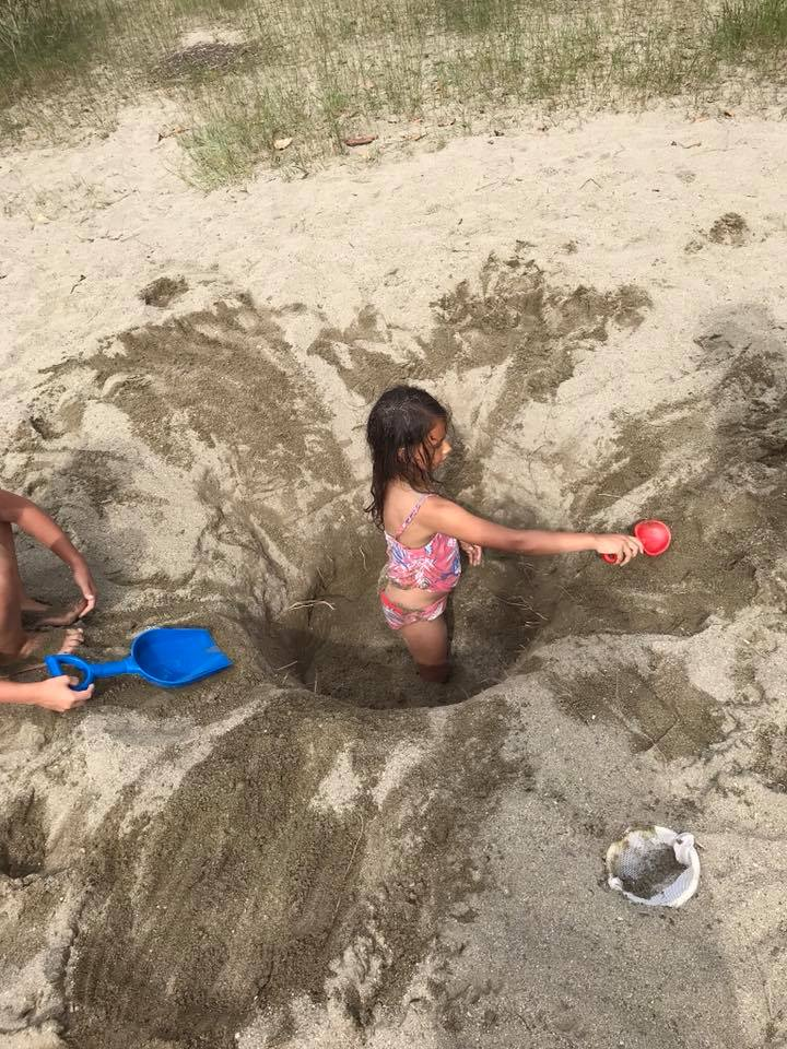 sandy beaches at Kilby campground