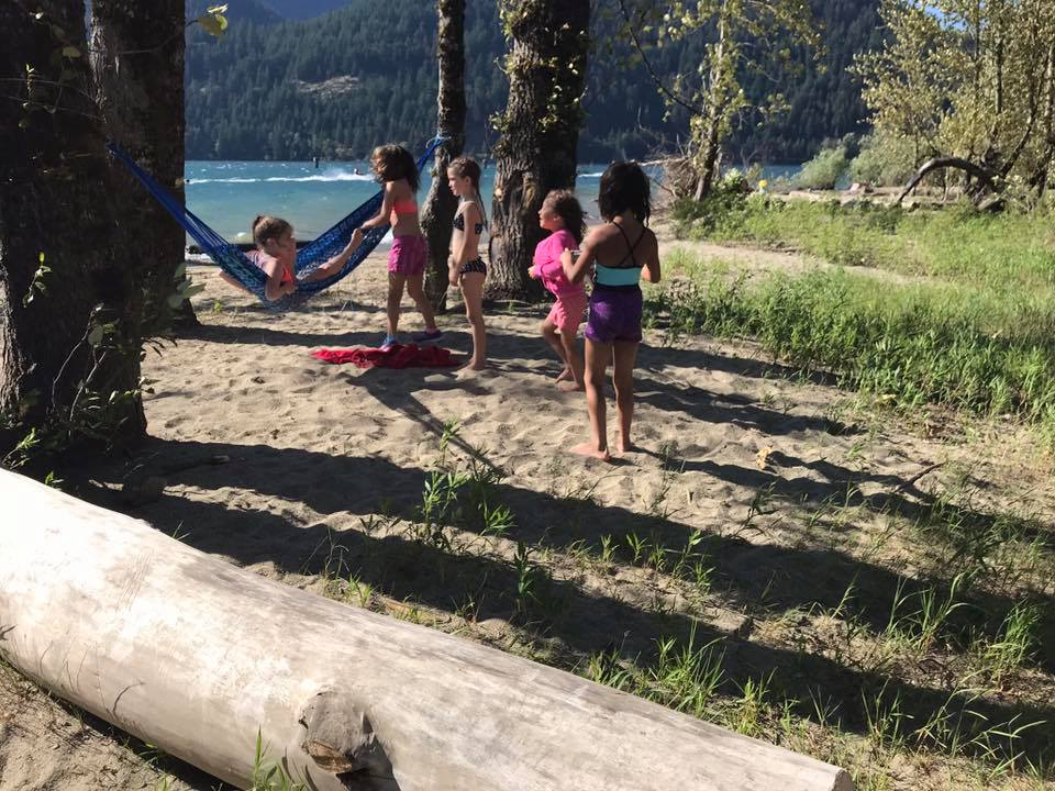 kids playing at Kilby campground