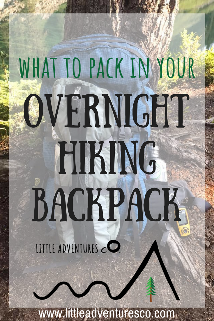 What to pack in your overnight hiking backpack