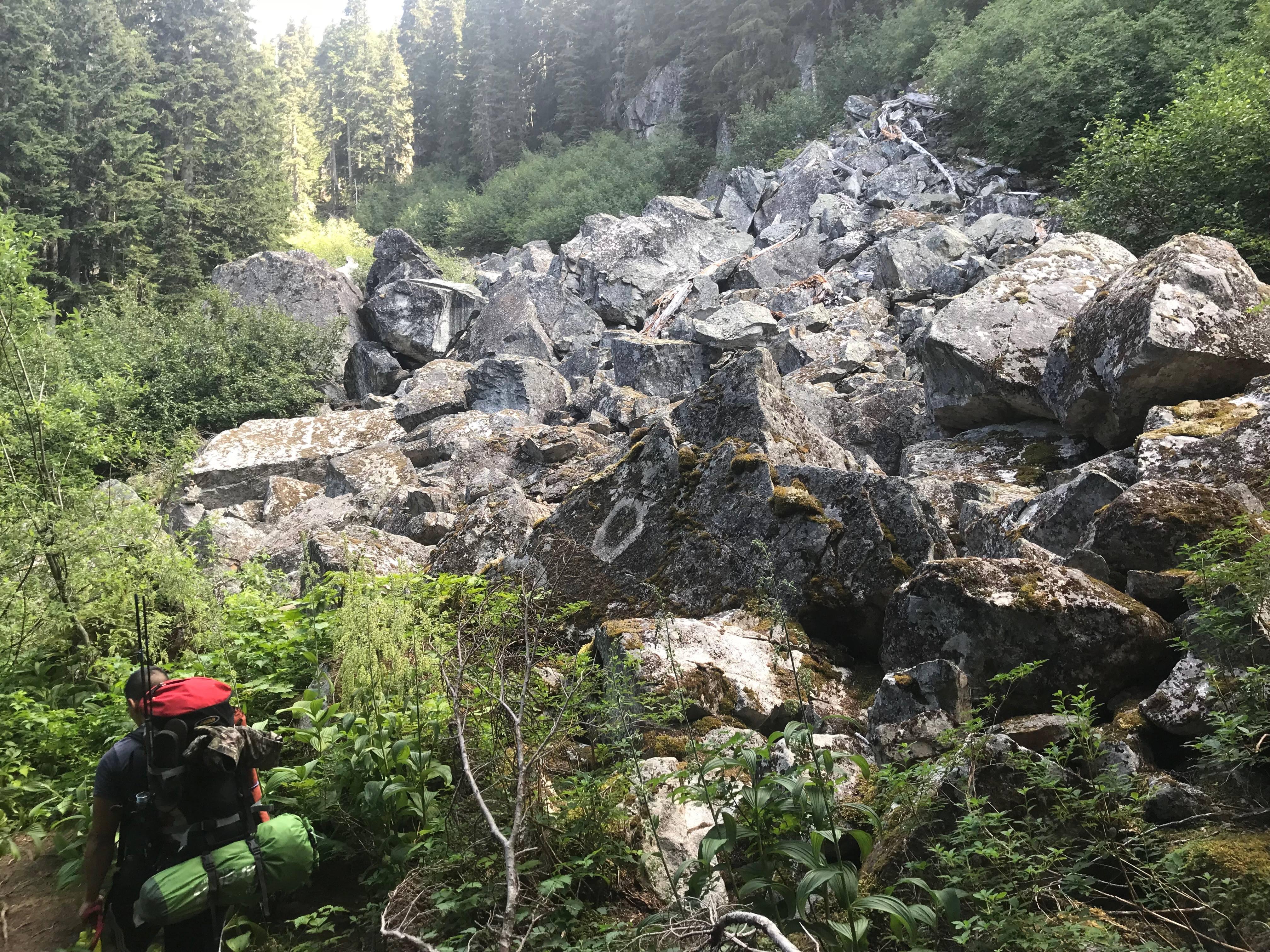 eaton lake boulder field