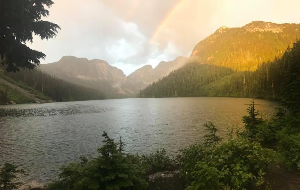rainbow at eaton lake