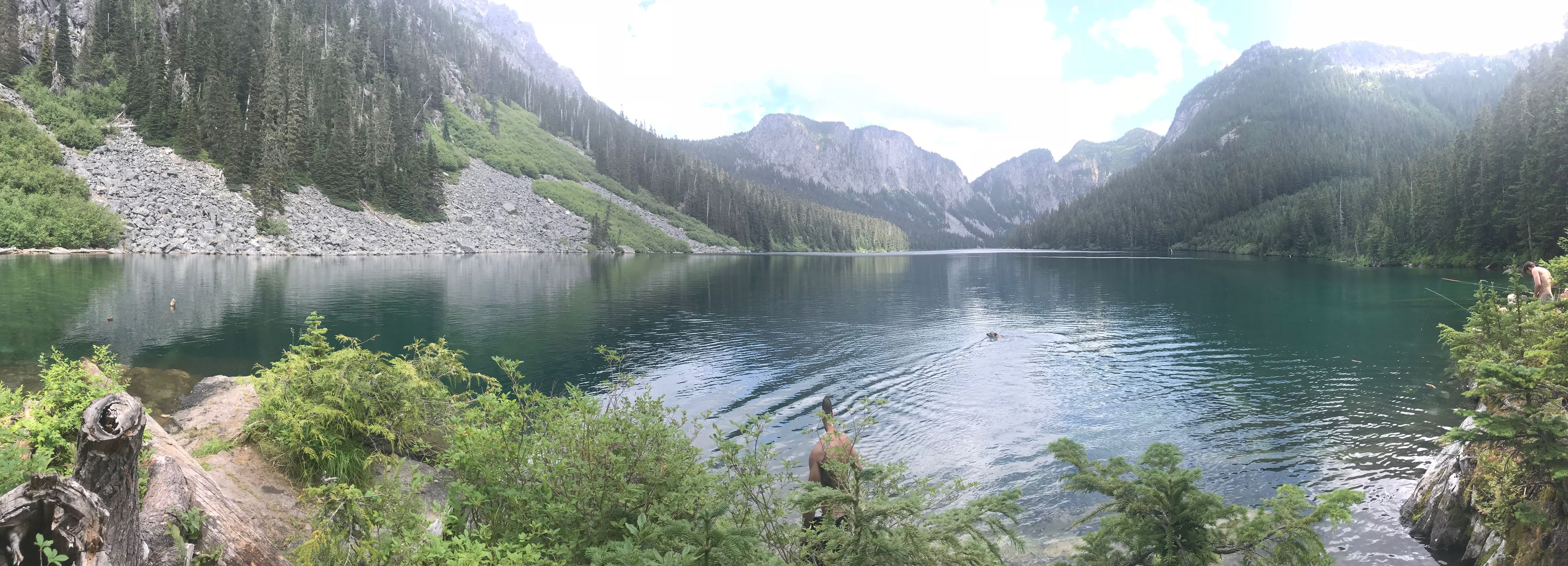 panorama of eaton lake