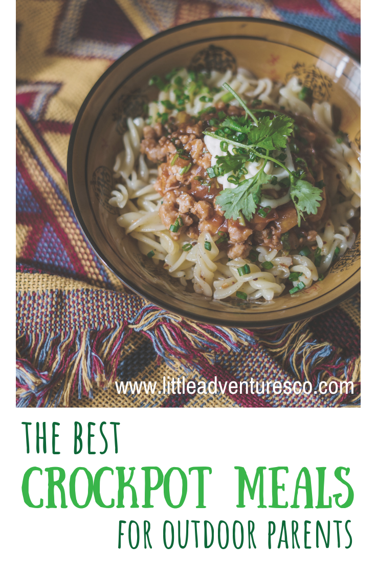 Having dinner ready for when you get home from a little adventure is so relieving. Here are some of the best crock pot meals for outdoor parents!